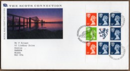 1989 21 March Scots Connection PANE FDC EDINBURGH - Regional Issues