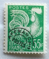 Timbre France Préoblitéré Coq Gaulois YT 118 (*) MH 55f Vert Jaune (côte 14,5 Euros) – 316d - Préoblitérés