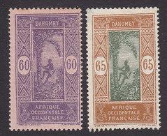 Dahomey, Scott #68-69, Mint Hinged/No Gum, Man Climbing Oil Palm, Issued 1913 - Dahomey (1899-1944)