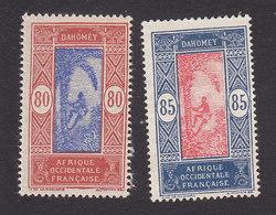 Dahomey, Scott #71-72, Mint Hinged/No Gum, Man Climbing Oil Palm, Issued 1913 - Dahomey (1899-1944)