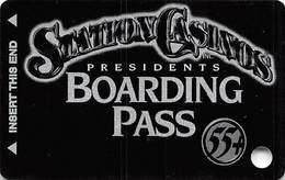 Station Casinos Las Vegas, NV - Slot Card Copyright 2001 - Presidents Boarding Pass 55+ BLANK - Casino Cards
