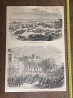 DOCUMENT GRAVURE 1871 JOURNEE DU 18 MARS TROUPE RAMENEE A LA MAIRIE DE MONTMARTRE PARC D ARTILLERIE - Sammlungen