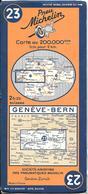CARTE-ROUTIERE-MICHELIN-N °23-1938-75.386-GENEVE-BERNE-PAS De COUPURES- TBE - Cartes Routières