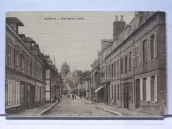 76 - AUMALE - LA RUE SAINT LAZARE - ANIMEE - 1914 - Aumale