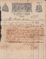 E6243 CUBA SPAIN ESPAÑA. 1861. FARMACIA SARRA. DRUG STORE PHARMACY MEDICINE ILLUSTRATED INVOICE. - Documents Historiques