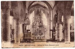 51 CHEMINON LA VILLE - Interieur De L'église - Monument Classé - Cpa Marne - France