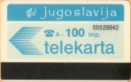 Yugoslavia - JUG-15, Autelca, Logo - Blue (No Muflon Radece), 100U, CN: 8 Digits, 100.000ex, Used - Joegoslavië