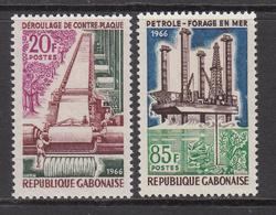 1966 Gabon Gabonaise Oil Petroleum Timber Forestry Complete Set Of 2 MNH - Gabon