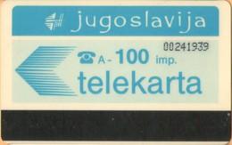 Yugoslavia - JUG-13, Autelca, Logo - Blue (No Muflon Radece), 100U, CN: 8 Digits, 50.000ex, Used - Jugoslawien