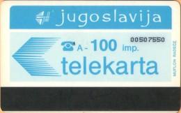 Yugoslavia - JUG-17, Autelca, Logo - Blue (Muflon Radece), 100U, CN: 8 Digits, 500.000ex, Used - Joegoslavië
