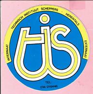 Sticker - Technisch Instituut SCHEPPERS Herentals - Internaat - Externaat - T I S - Autocollants