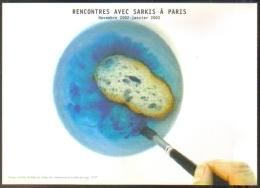 """Carte Postale Grand Format édition """"Dix Et Demi Quinze"""" - Rencontres Avec Sarkis à Paris - Louvre Auditorium - Advertising"""