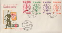 Enveloppe  FDC   1er  Jour   VIETNAM    Combattants  Républicains    1963 - Viêt-Nam