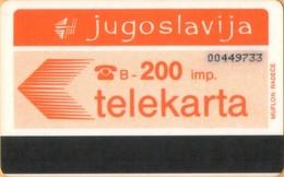Yugoslavia - JUG-35, Autelca, Logo - Orange (Muflon Radece), 200U, CN: 8 Digits, 200.000ex, Used - Joegoslavië