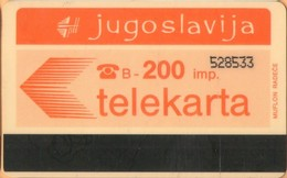 Yugoslavia - JUG-36, Autelca, Logo - Orange (Muflon Radece), 200U, CN: 6 Digits, 50.000ex, Used - Joegoslavië