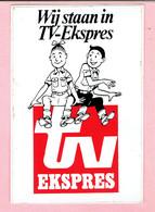 Sticker - Suske En Wiske - Ik Sta In TV Ekspres - Suske En Wiske - Autocollants