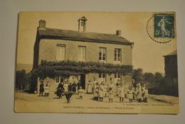 08 Ardennes Saint Marcel Mairie Et Ecoles ( Cpa Dechiree Bas Voir  Photos ) - France