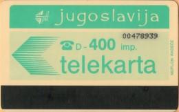 Yugoslavia - JUG-50, Autelca, Logo - Green (Muflon Radece), 400U, CN: 8 Digits, 30.000ex, Used - Jugoslawien