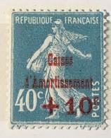 Timbre France Semeuse Caisse D'amortissement YT 246 (*) 1927, +10c Sur 40 C [bleu] (côte 6 Euros) – 456 - France