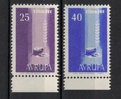 Turkey/Turquie/Türkei 1958, Europa - Avrupa **, MNH - 1921-... République