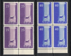 Turkey/Turquie/Türkei 1958, Europa - Avrupa **, MNH, Block Of 4 - 1921-... République