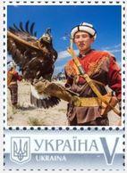 Ukraine 2019, Fauna, Falconry, Predator Birds, 1v - Ucrania