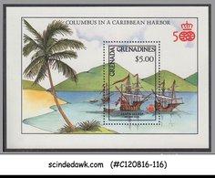 GRENADA GRENADINES - 1992 COLUMBUS IN A CARIBBEAN HARBOUR / SHIPS M/S MNH - Grenada (1974-...)