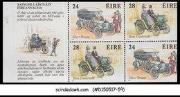 IRELAND - 1989 IRISH CLASSICS CARS - BOOKLET PANE - MINT NH - Autos