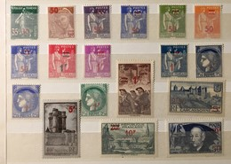 Timbre France Série Complète 1940-41 YT 476 Au 493 (*) MH Surchargés Clément Ader (côte 46,5 Euros) – 468 - Ongebruikt