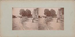 PHOTO STEREO NEVERS CRUE DU 30 AOUT 1900  INONDATION DU QUAI DE BILLEREUX - Fotos Estereoscópicas