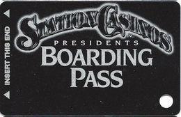 Station Casinos Las Vegas, NV - Slot Card Copyright 2001 - Presidents Boarding Pass BLANK - Casino Cards