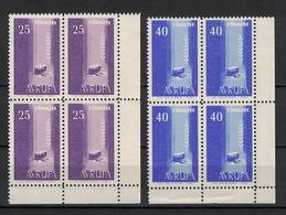 Turkey/Turquie/Türkei 1958, Europa - Avrupa **, MNH, Block Of 4, Corner-Margin - 1921-... République