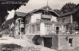 PONTE DI GARDENA-BOLZANO-ALBERGO PENSIONE=POSTA= CARTOLINA VERA FOTOGRAFIA-VIAGGIATA IL 27-7-1956 - Bolzano