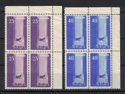 Turkey/Turquie/Türkei 1958, Europa - Avrupa **, MNH, Block Of 4, Corner-Margin (READ!!!) - 1921-... Republiek