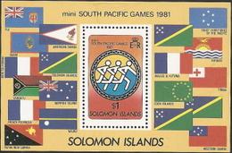 Solomon Isl,  Scott 2015 # 499,  Issued 1981,  S/S Of 1,  MNH,  Cat $ 1.25,  Sports - Solomon Islands (1978-...)