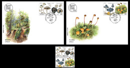 Serbia 2019 Flora, Fungi, FDC+block Of 4, MNH - Alberi