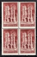 FRANCE 1944 - BLOC DE 4 TP / Y.T. N° 665 - NEUFS** - France