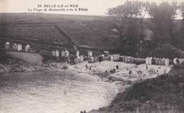 CPA : Belle Ile En Mer ,   La Plage De Ramonette Près Le Pälais    Ed  Nozais   N° 28 - Belle Ile En Mer