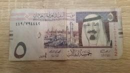 BILLET  ARABIE SAOUDITE 5 FIVE   RIYALS - Saudi Arabia