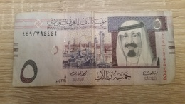 BILLET  ARABIE SAOUDITE 5 FIVE   RIYALS - Arabie Saoudite