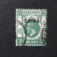 ◆◆◆ CHINA  1917-21 BRITISH POST OFFICE IN CHINA   2c  USED  AA471 - Cina