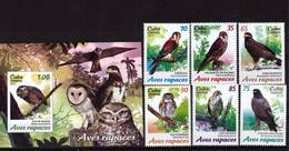 Cuba, 2017. Birds (set+block) (02) - Owls