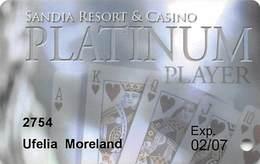 Sandia Casino - Alburquerqe, NM - Platinum Slot Card 02/07 - Casino Cards