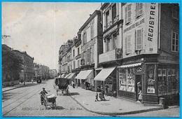 CPA 51 REIMS Marne - La Rue De Vesle (Emile Lanier Vve Thomas Th. Warmé IMPRIMERIE) ° ND Phot N° 137 (77 Nesles Au Dos) - Reims