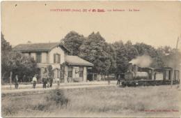 D10 - FONTVANNES - LA GARE -  279 Habitants - Train Nombreux Hommes Certains En Uniformes - Francia