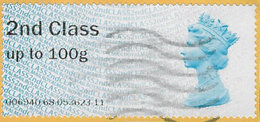 GB 2013 2nd Class Post And Go Code 006940 Used [32/172/ND] - Great Britain