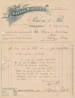 Facture   Grande Minoterie PINON à COSNE SUR LOIRE 58 Pour Bissonnet Marchand De Grains à Cernoy En Berry 45 - France