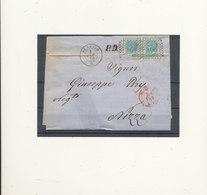 ITALIE UNE PAIRE  CACHET ROUGE 1870 - Used