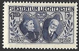 Liechtenstein  1928   Sc#86   1.20fr   MLH  2016 Scott Value $50 - Ungebraucht