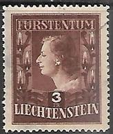 Liiechtenstein   1951   Sc#260  3fr Princess Used  2016 Scott Value $110 - Liechtenstein